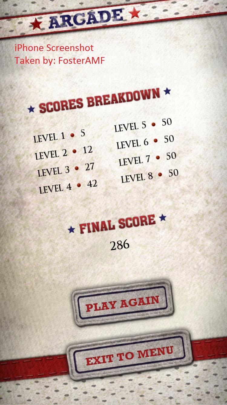 FosterAMF: Flick Kick Field Goal Kickoff: Arcade [Points] (iOS) 286 points on 2015-10-28 01:14:55