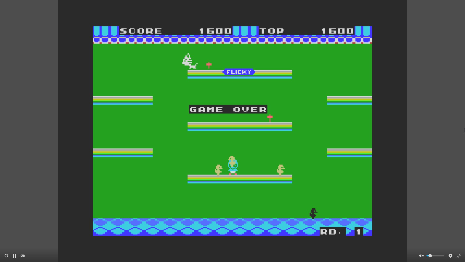AkinNahtanoj: Flicky (MSX Emulated) 1,600 points on 2020-10-31 05:09:37