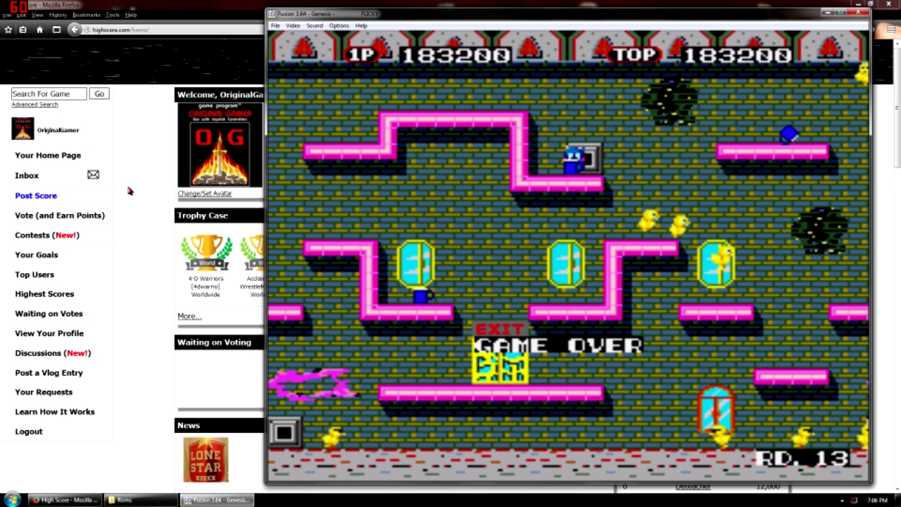 OriginalGamer: Flicky (Sega Genesis / MegaDrive Emulated) 183,200 points on 2015-09-07 22:59:43