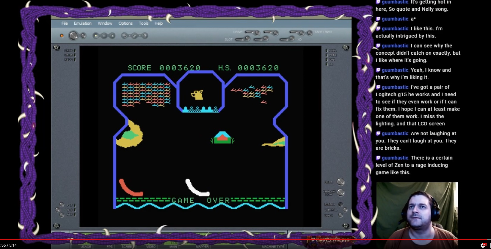 DeadZergling: Flipper Slipper: Skill 2 (Colecovision Emulated) 3,620 points on 2020-02-24 03:22:36