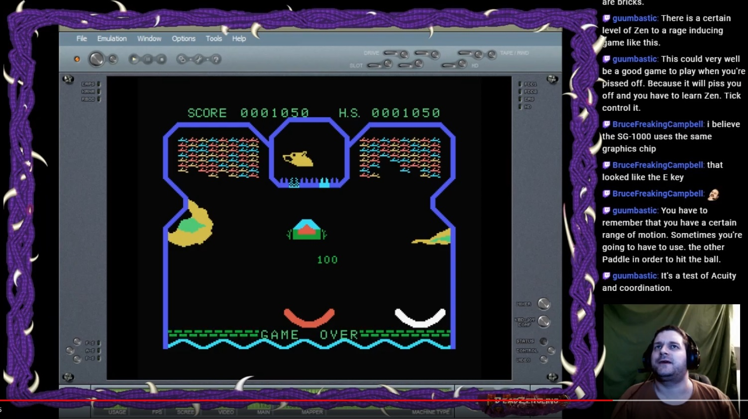 DeadZergling: Flipper Slipper: Skill 4 (Colecovision Emulated) 1,050 points on 2020-02-24 03:42:07