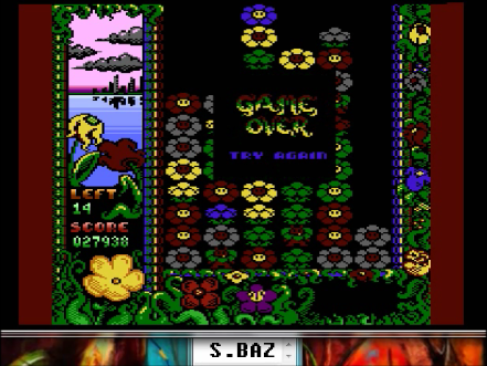 S.BAZ: Flowers Mania (Atari 400/800/XL/XE Emulated) 27,938 points on 2016-04-22 11:16:40