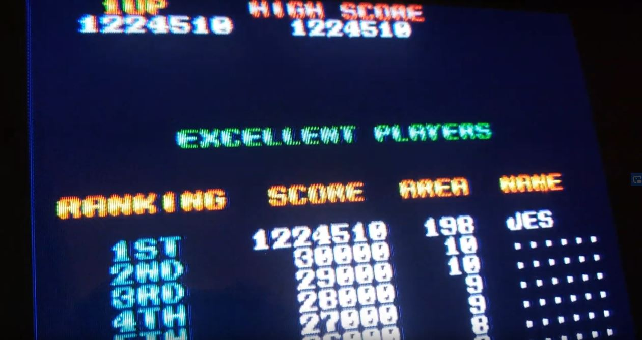 JES: Flying Shark (Arcade Emulated / M.A.M.E.) 1,224,510 points on 2020-04-16 01:42:52
