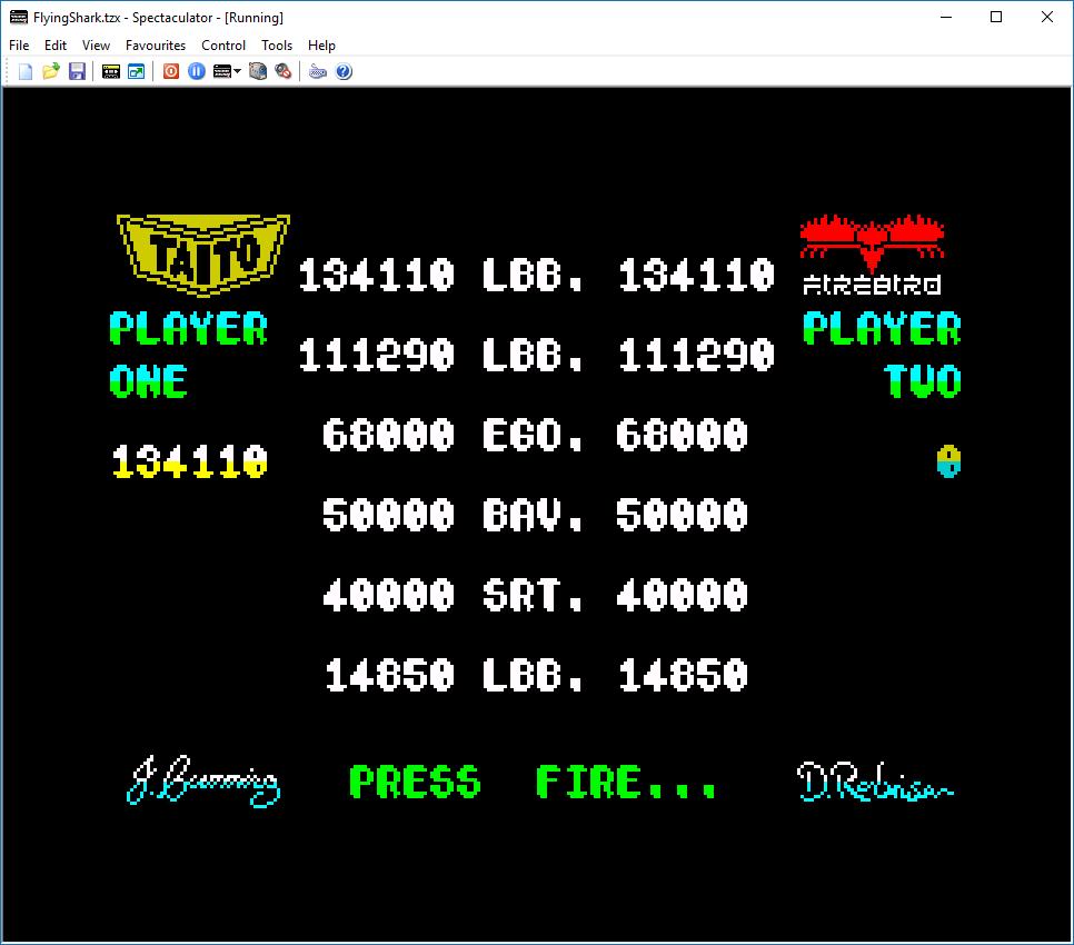 Flying Shark 134,110 points