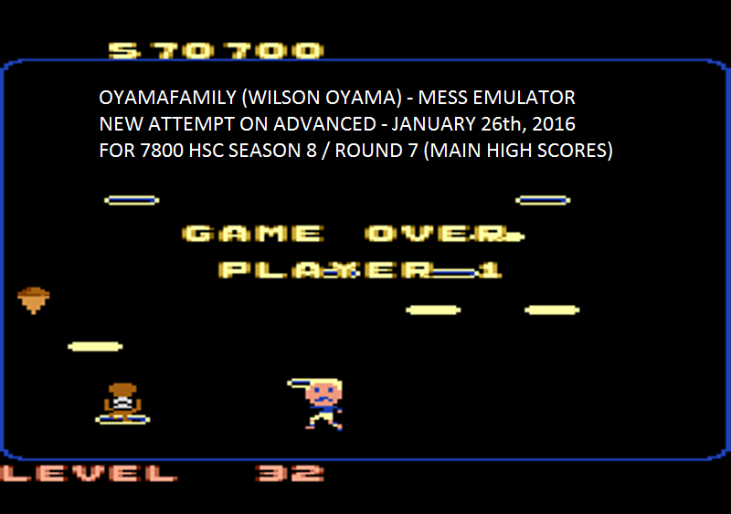 oyamafamily: Food Fight: Advanced (Atari 7800 Emulated) 570,700 points on 2016-02-08 04:59:21