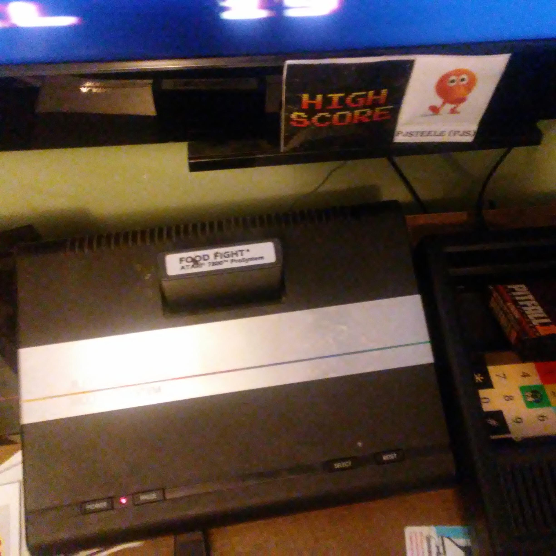 Pjsteele: Food Fight: Advanced (Atari 7800) 171,500 points on 2018-03-21 13:11:46
