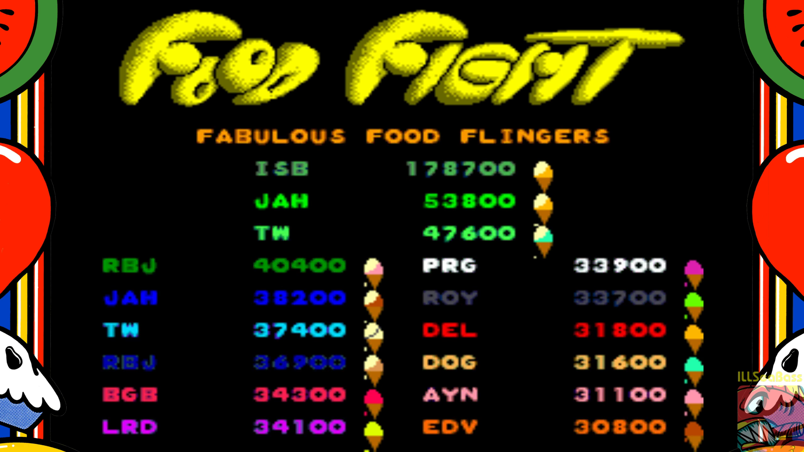 ILLSeaBass: Food Fight (Arcade Emulated / M.A.M.E.) 178,700 points on 2018-09-30 02:04:24