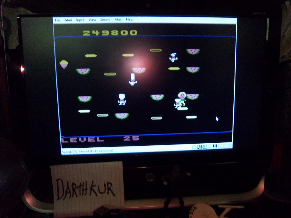 darthkur: Food Fight [Beginner] (Atari 400/800/XL/XE Emulated) 249,800 points on 2016-04-24 13:33:36