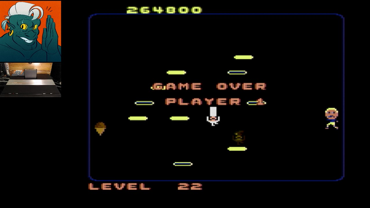 AwesomeOgre: Food Fight: Expert (Atari 7800) 264,800 points on 2019-05-11 14:53:28
