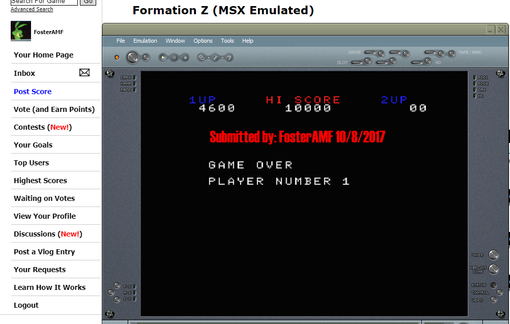 FosterAMF: Formation Z (MSX Emulated) 4,600 points on 2017-10-08 17:03:51