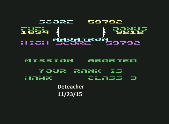 Deteacher: Fort Apocalypse (Commodore 64 Emulated) 59,792 points on 2015-11-23 12:22:18