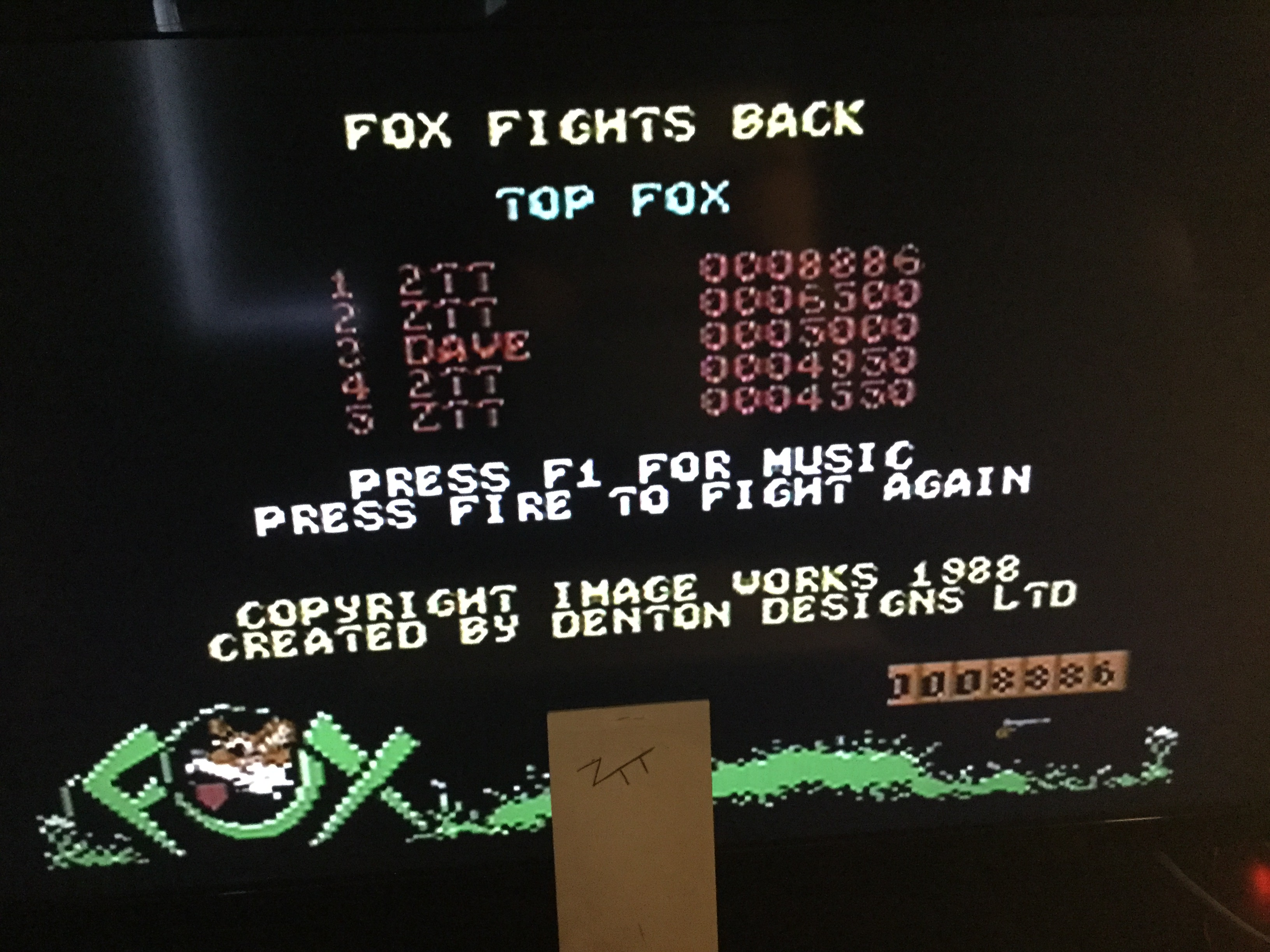 Frankie: Fox Fights Back (Commodore 64) 8,886 points on 2019-06-01 12:59:27