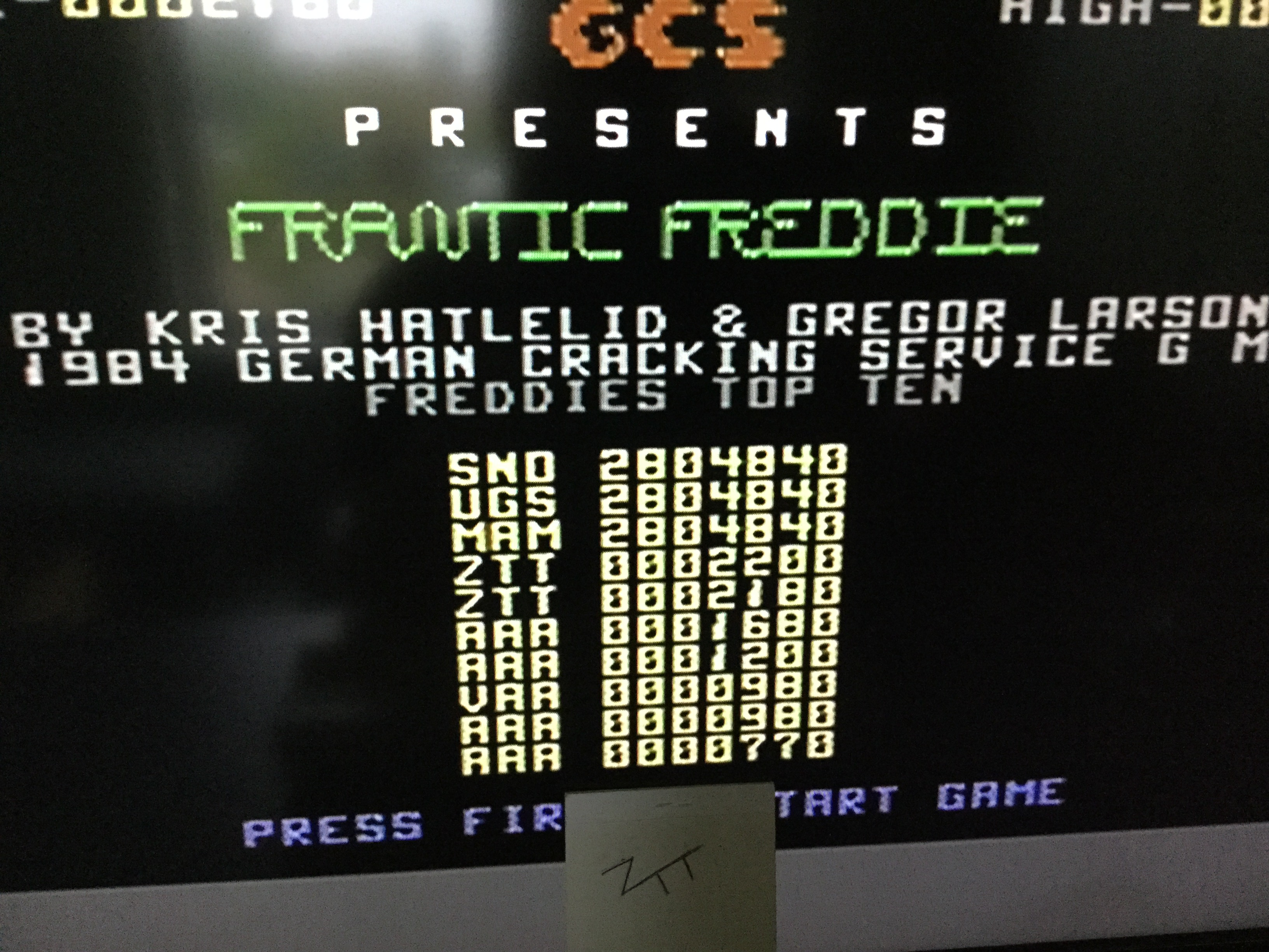 Frankie: Frantic Freddie (Commodore 64) 2,200 points on 2019-05-30 09:14:46
