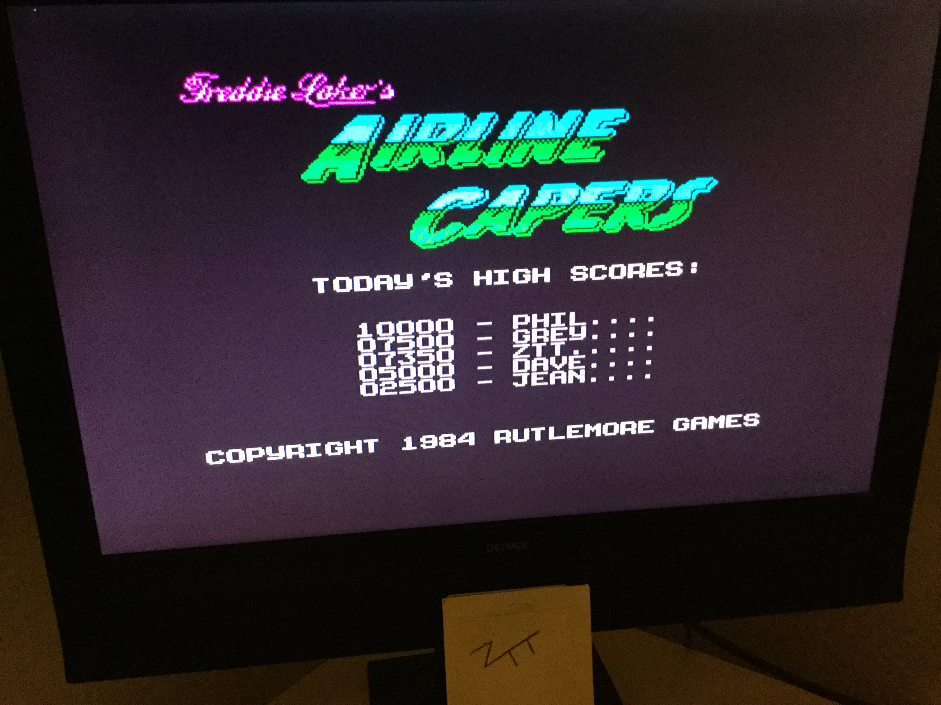 Frankie: Freddie Laker's Airline Capers (ZX Spectrum) 7,350 points on 2019-11-10 03:41:55
