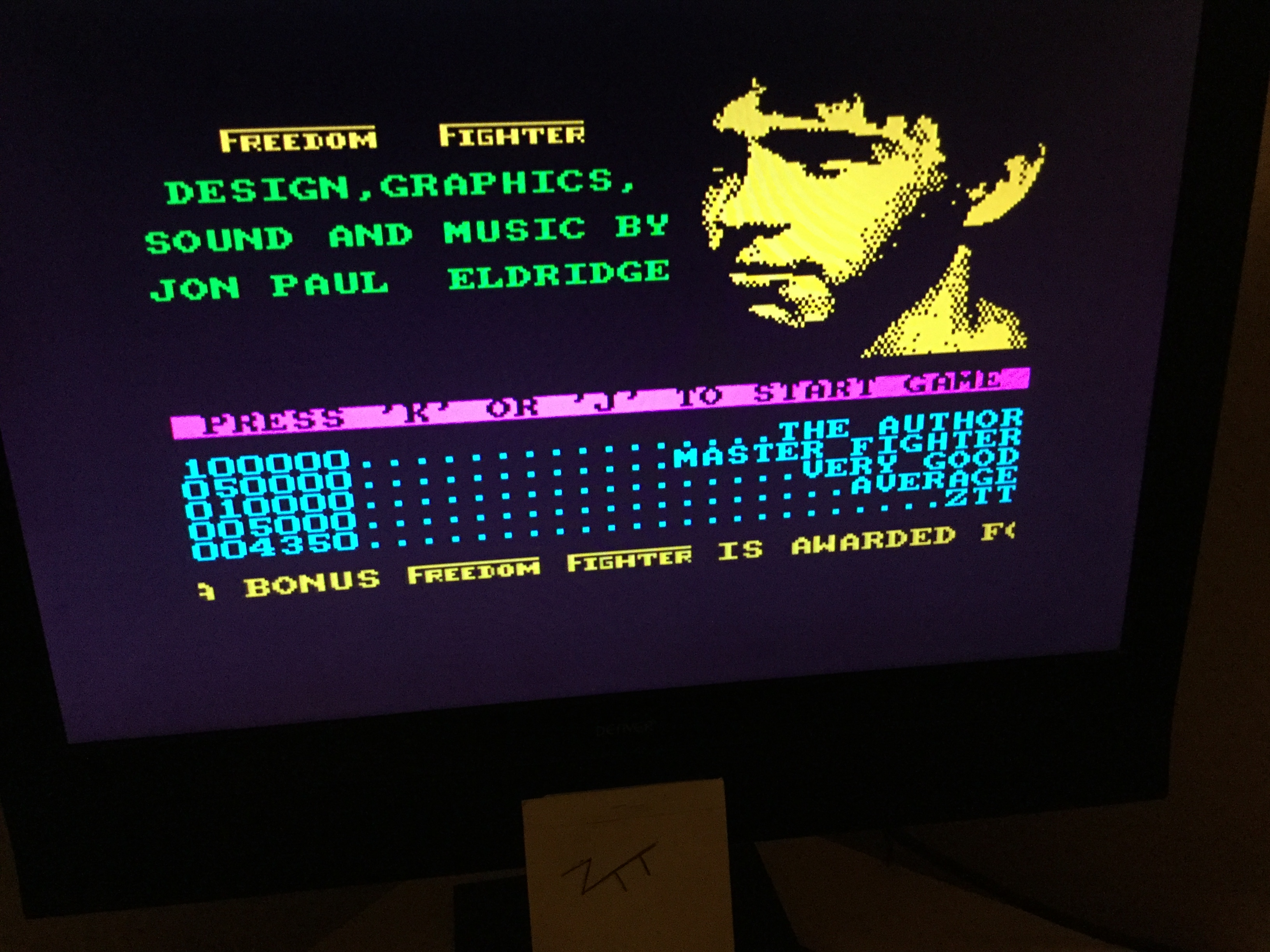 Frankie: Freedom Fighter (ZX Spectrum) 4,350 points on 2019-12-01 03:45:15