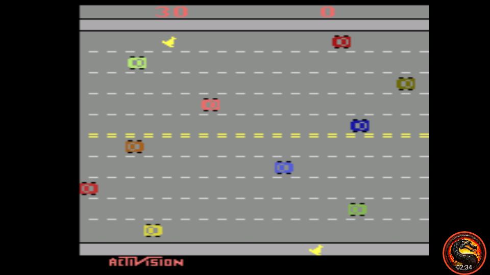 omargeddon: Freeway: Game 1 (Atari 2600 Emulated Expert/A Mode) 30 points on 2020-08-16 21:02:21