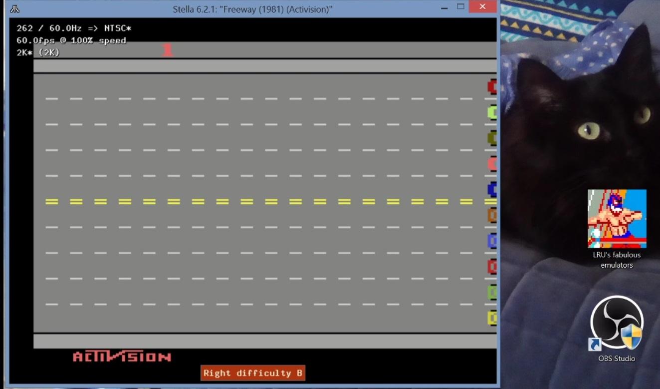 LuigiRuffolo: Freeway: Game 1 (Atari 2600 Emulated Novice/B Mode) 38 points on 2020-12-24 15:11:06