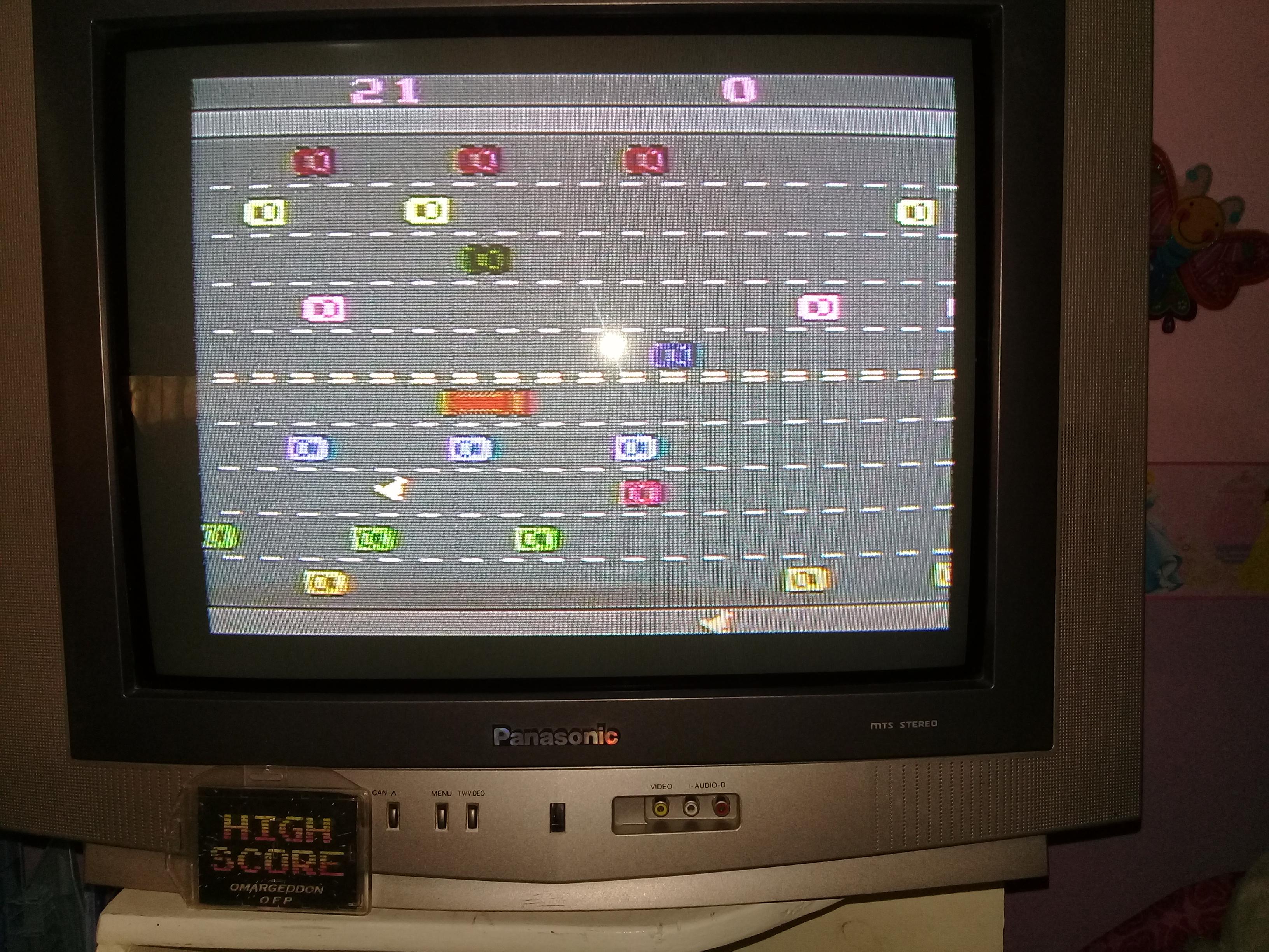omargeddon: Freeway: Game 3 (Atari 2600 Novice/B) 21 points on 2019-05-06 17:39:05