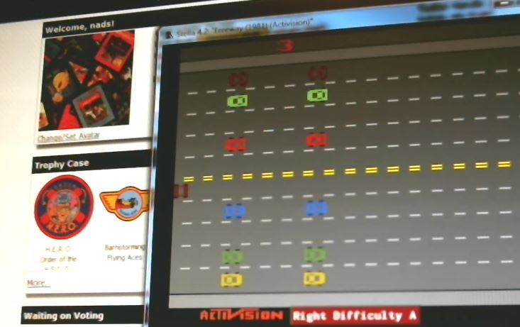 nads: Freeway: Game 3 (Atari 2600 Emulated Expert/A Mode) 34 points on 2015-11-12 17:08:38
