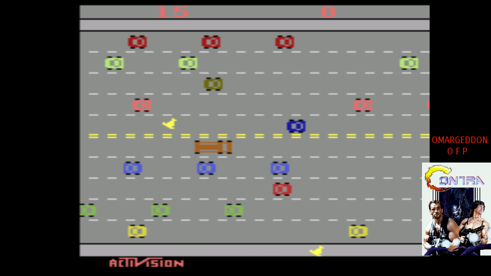 omargeddon: Freeway: Game 3 (Atari 2600 Emulated Novice/B Mode) 15 points on 2017-08-02 23:52:50