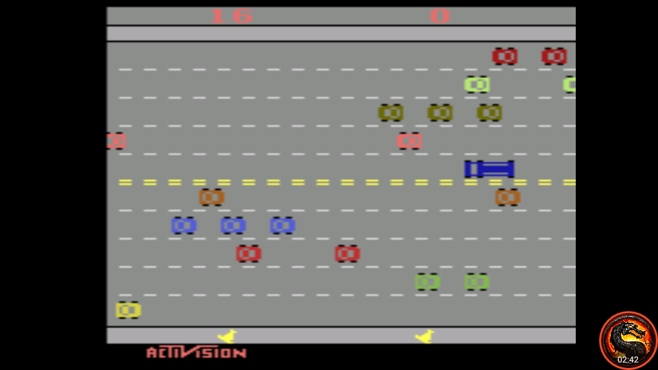 omargeddon: Freeway: Game 6 (Atari 2600 Emulated Expert/A Mode) 16 points on 2020-08-31 10:27:57