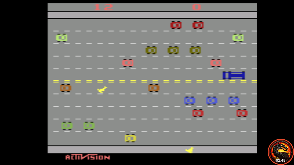 omargeddon: Freeway: Game 6 (Atari 2600 Emulated Novice/B Mode) 12 points on 2020-08-21 00:59:53