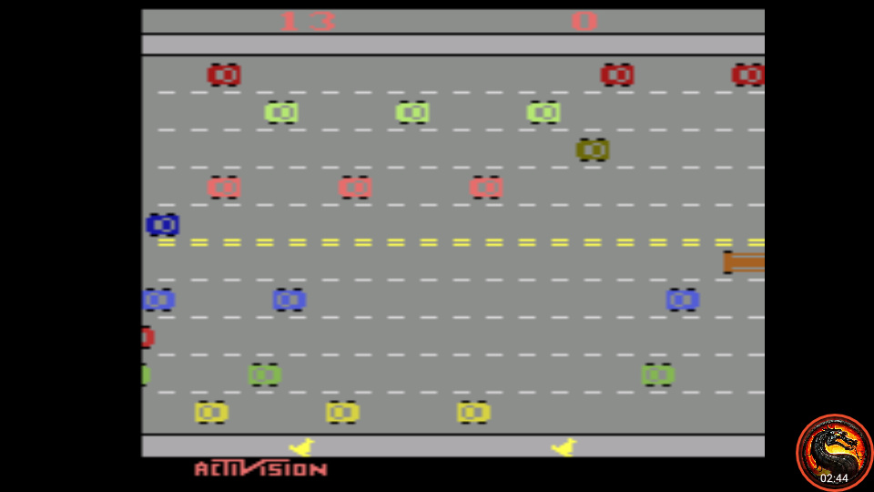 omargeddon: Freeway: Game 7 (Atari 2600 Emulated Expert/A Mode) 13 points on 2020-08-31 10:43:06