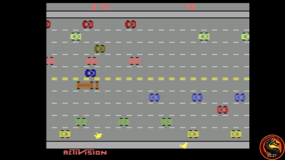omargeddon: Freeway: Game 7 (Atari 2600 Emulated Novice/B Mode) 15 points on 2020-08-21 01:00:46