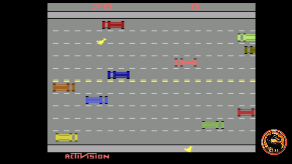 omargeddon: Freeway: Game 8 (Atari 2600 Emulated Expert/A Mode) 20 points on 2019-05-05 12:36:50