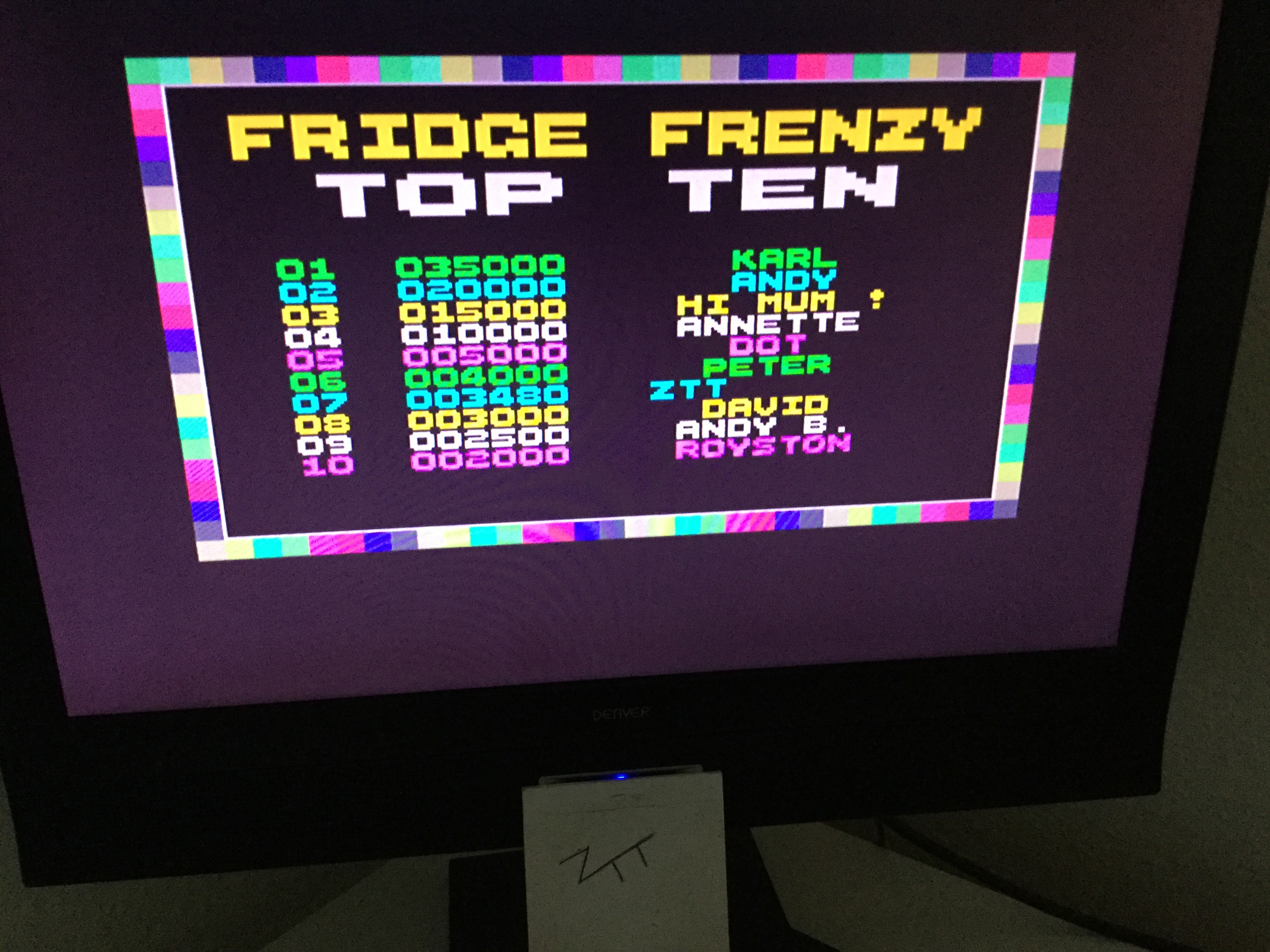 Frankie: Fridge Frenzy (ZX Spectrum) 3,480 points on 2019-12-01 04:30:41