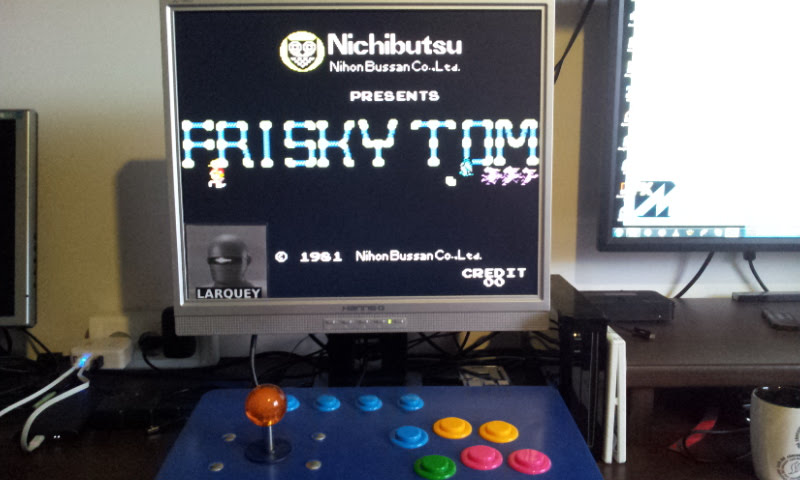 Larquey: Frisky Tom [friskyt] (Arcade Emulated / M.A.M.E.) 31,800 points on 2018-02-20 04:49:18