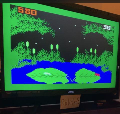 Rickster8: Frog Bog [Dir. & Tongue] (Intellivision) 580 points on 2020-11-24 19:18:00
