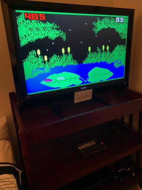 Rickster8: Frog Bog [Dir. & Tongue] (Intellivision Emulated) 405 points on 2020-09-20 12:07:18