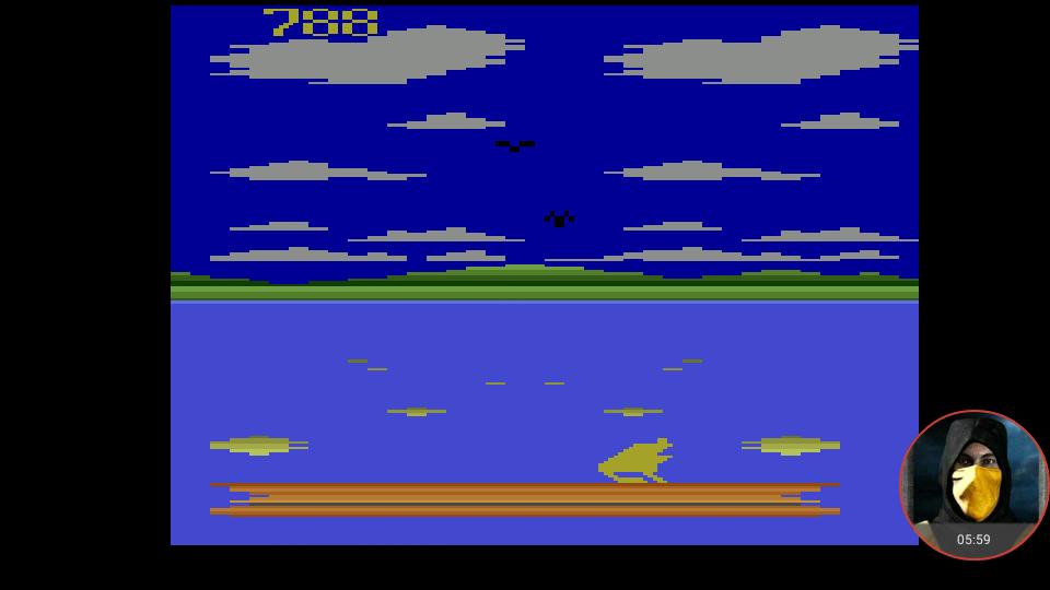 omargeddon: Frog Pond (Atari 2600 Emulated) 788 points on 2018-02-23 23:24:30