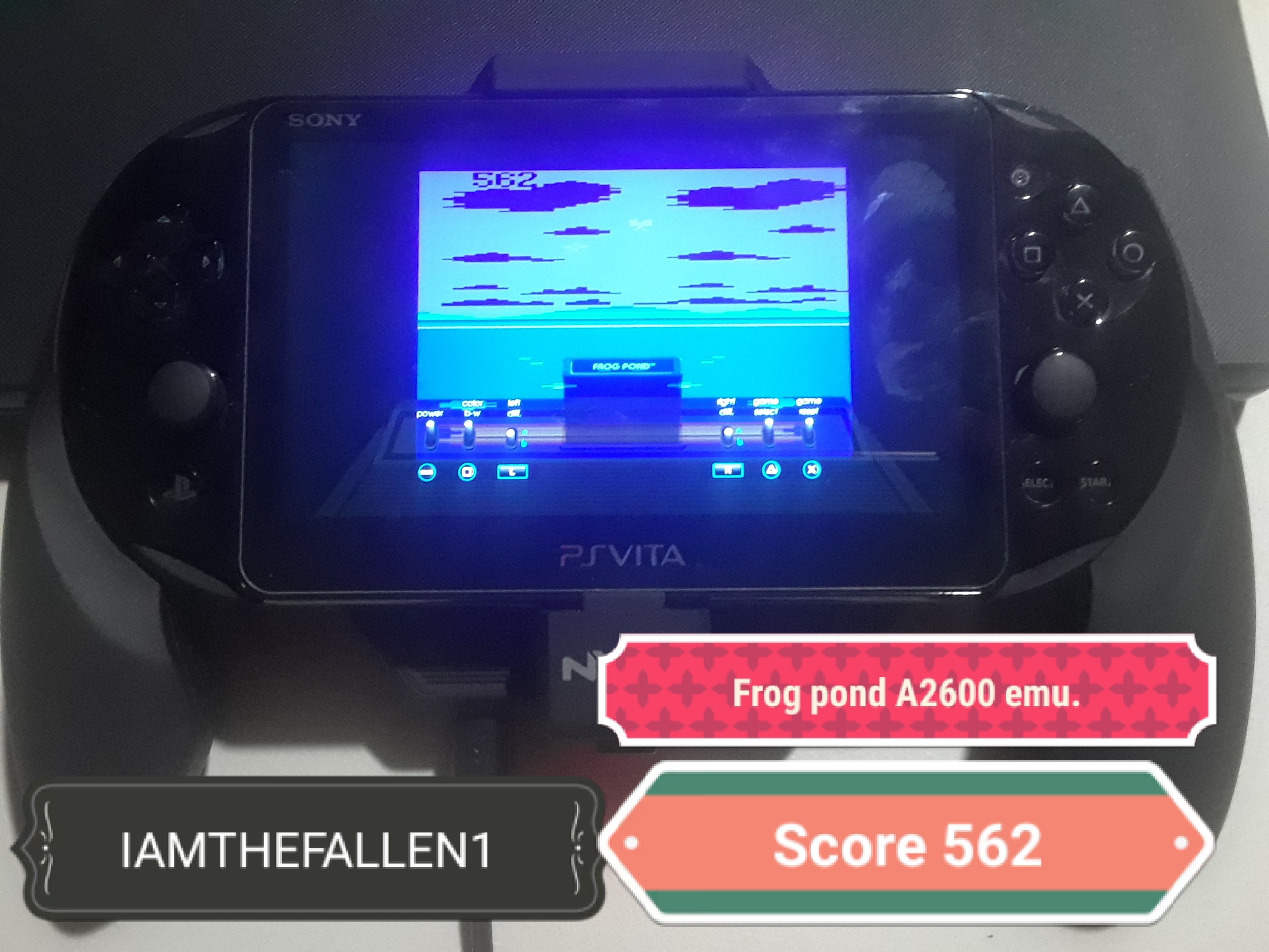 iamthefallen1: Frog Pond (Atari 2600 Emulated) 562 points on 2019-08-10 00:20:45