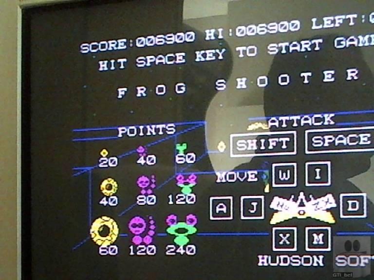 GTibel: Frog Shooter (ZX Spectrum) 6,900 points on 2017-11-17 10:26:45