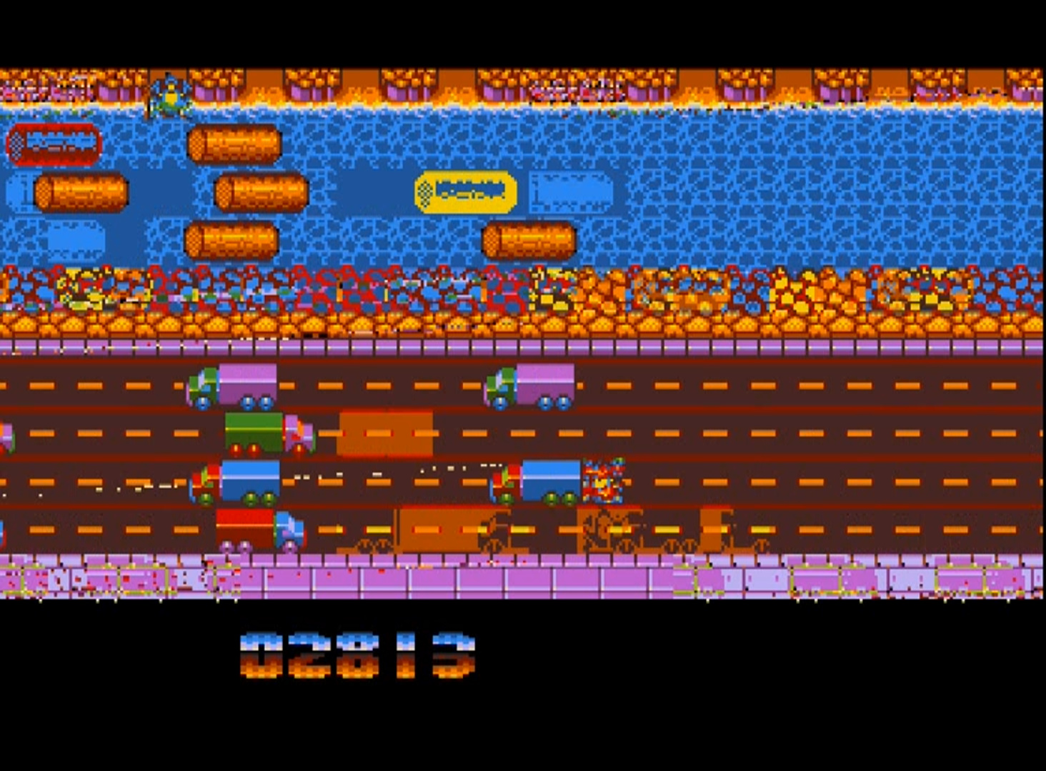 TheTrickster: Frogger (Amiga Emulated) 2,813 points on 2015-07-24 23:02:20