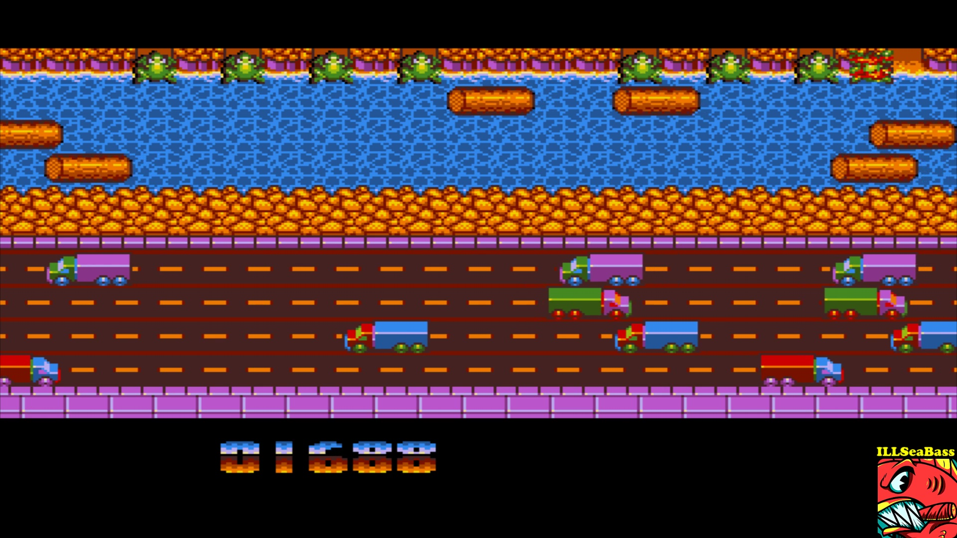 ILLSeaBass: Frogger (Amiga Emulated) 1,688 points on 2017-10-26 00:01:22