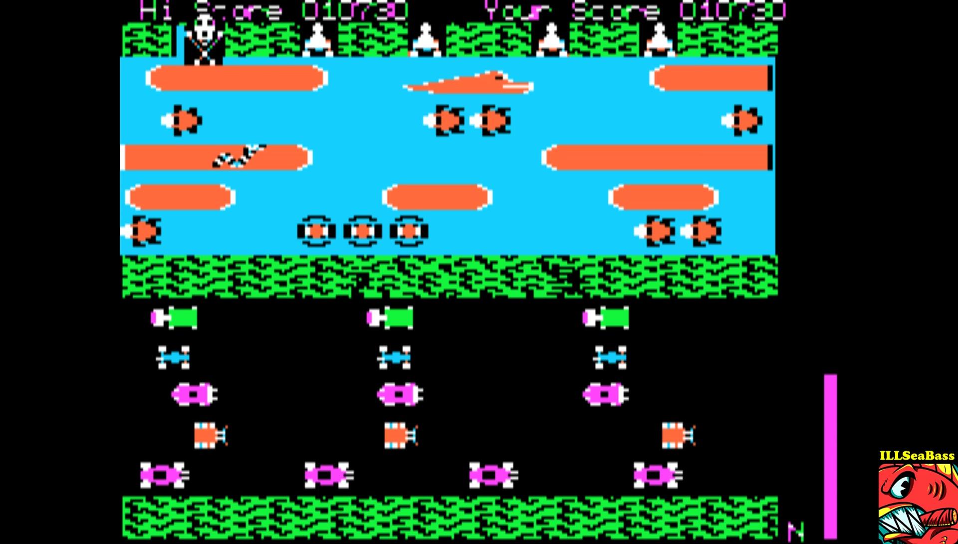 ILLSeaBass: Frogger (Apple II Emulated) 10,730 points on 2017-02-21 10:49:37