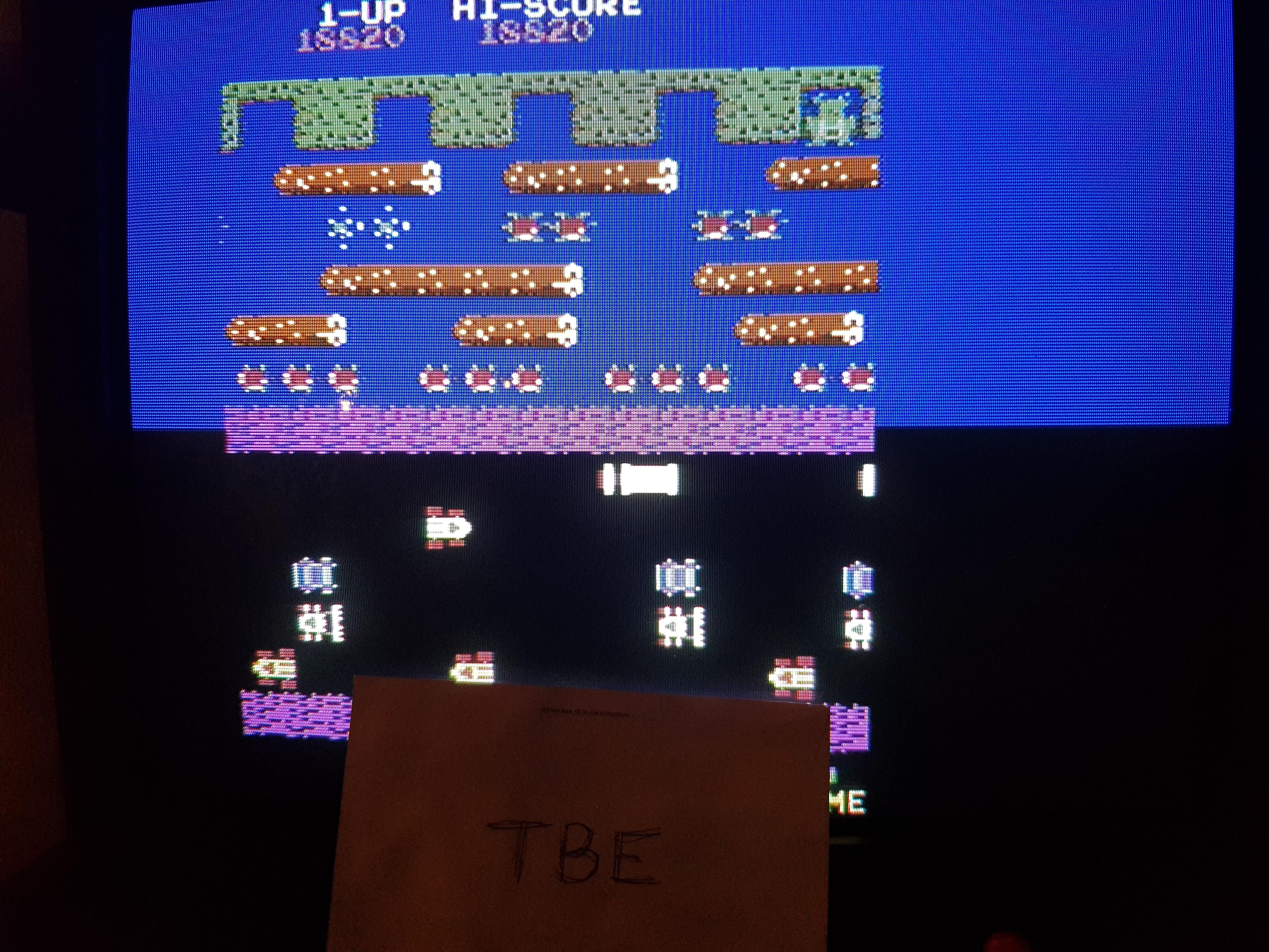 Frogger Arcade 18,820 points