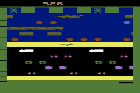 GAMES: Frogger (Atari 2600 Novice/B) 526 points on 2019-12-31 08:42:32