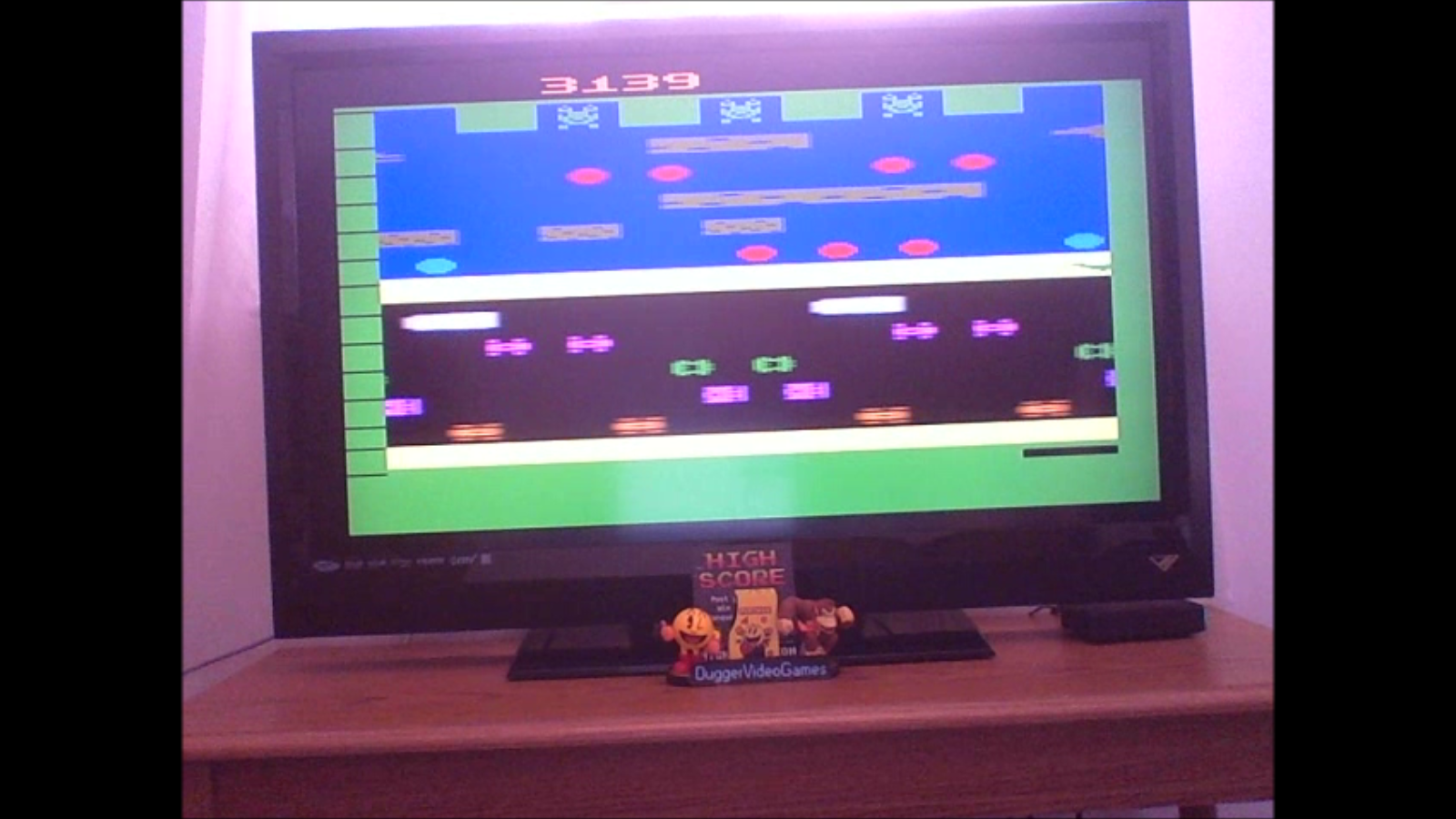 DuggerVideoGames: Frogger (Atari 2600 Emulated Novice/B Mode) 3,139 points on 2017-02-08 13:41:57