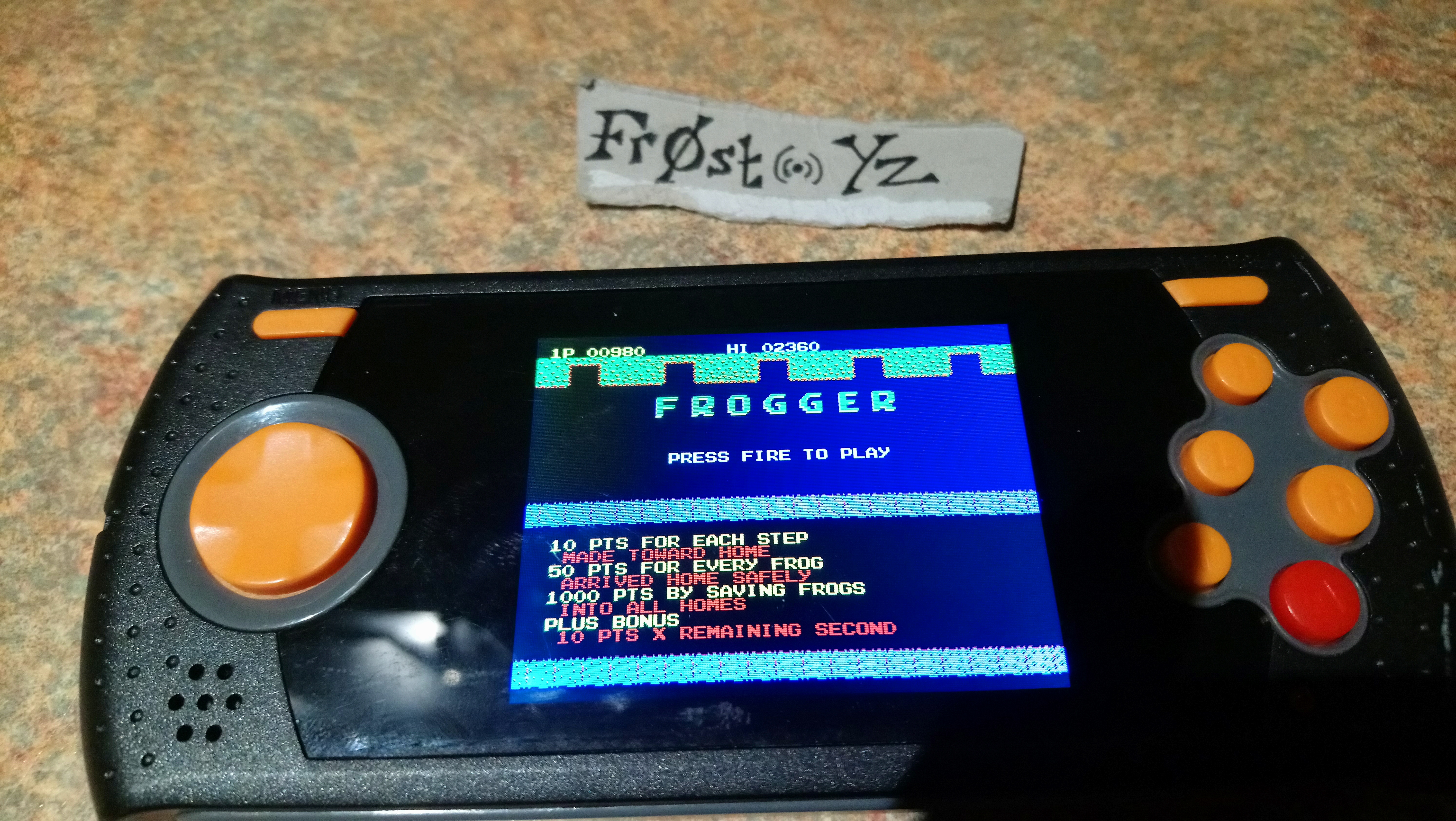 Frogger 2,360 points