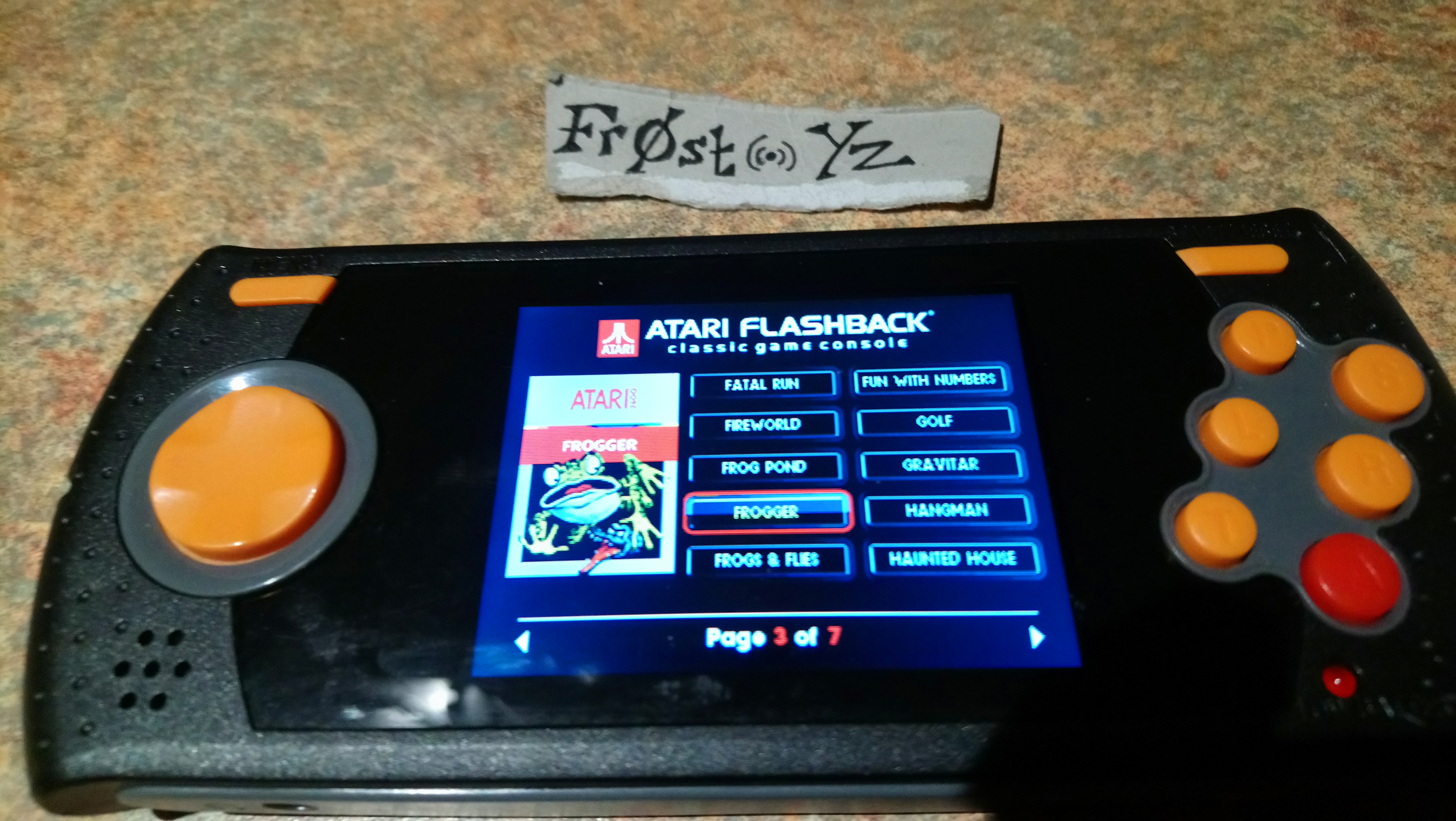 Fr0st: Frogger (Atari 2600 Emulated Novice/B Mode) 2,360 points on 2019-02-25 16:25:27
