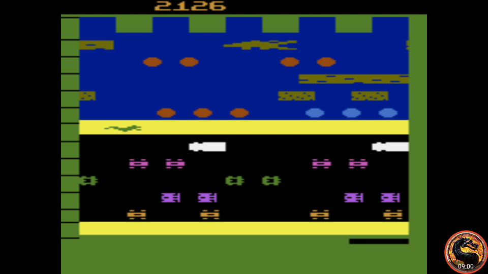 omargeddon: Frogger (Atari 2600 Emulated Novice/B Mode) 2,126 points on 2019-12-18 21:12:30