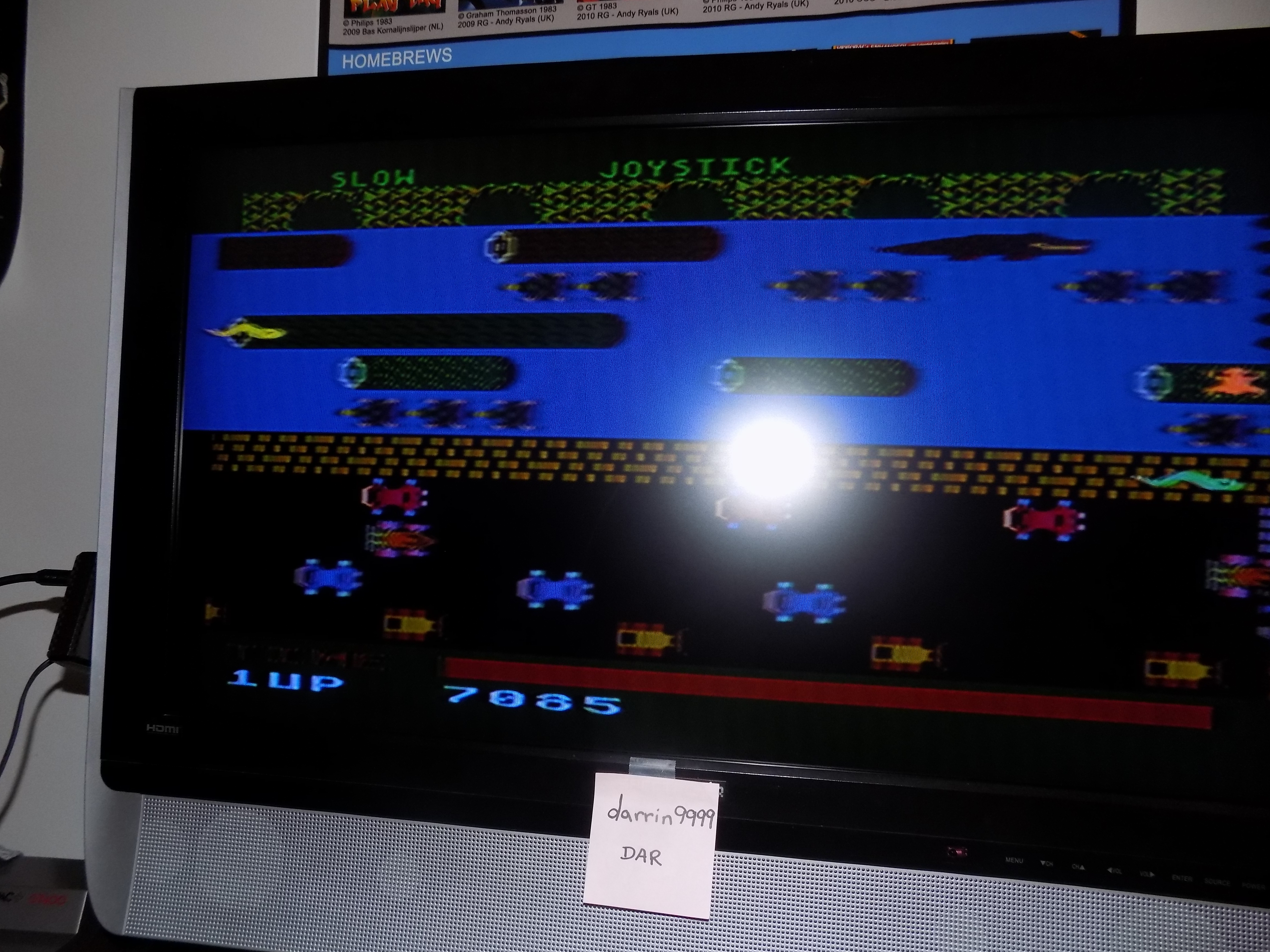darrin9999: Frogger (Atari 5200) 7,085 points on 2017-02-08 16:36:35