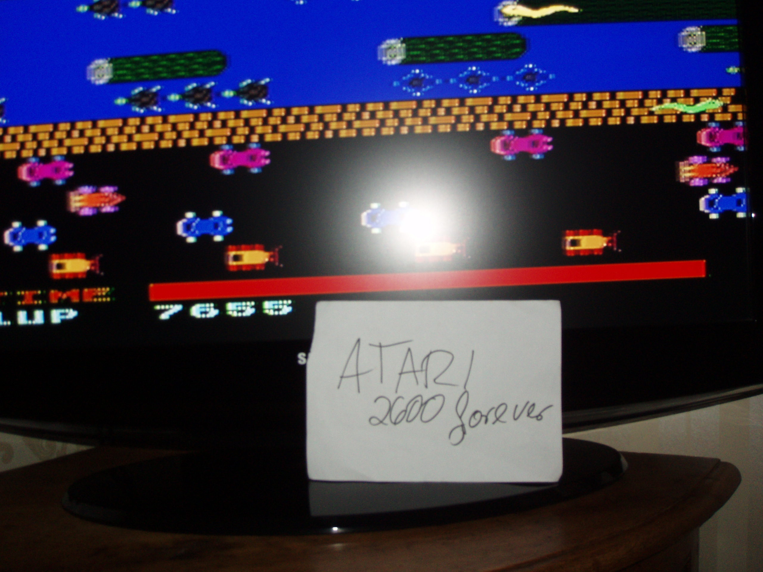 atari2600forever: Frogger (Atari 5200) 7,655 points on 2017-11-13 03:36:23