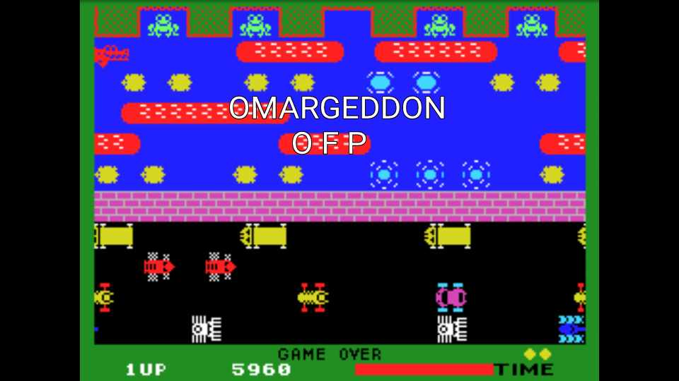 omargeddon: Frogger (Colecovision Emulated) 5,960 points on 2016-12-14 23:40:00