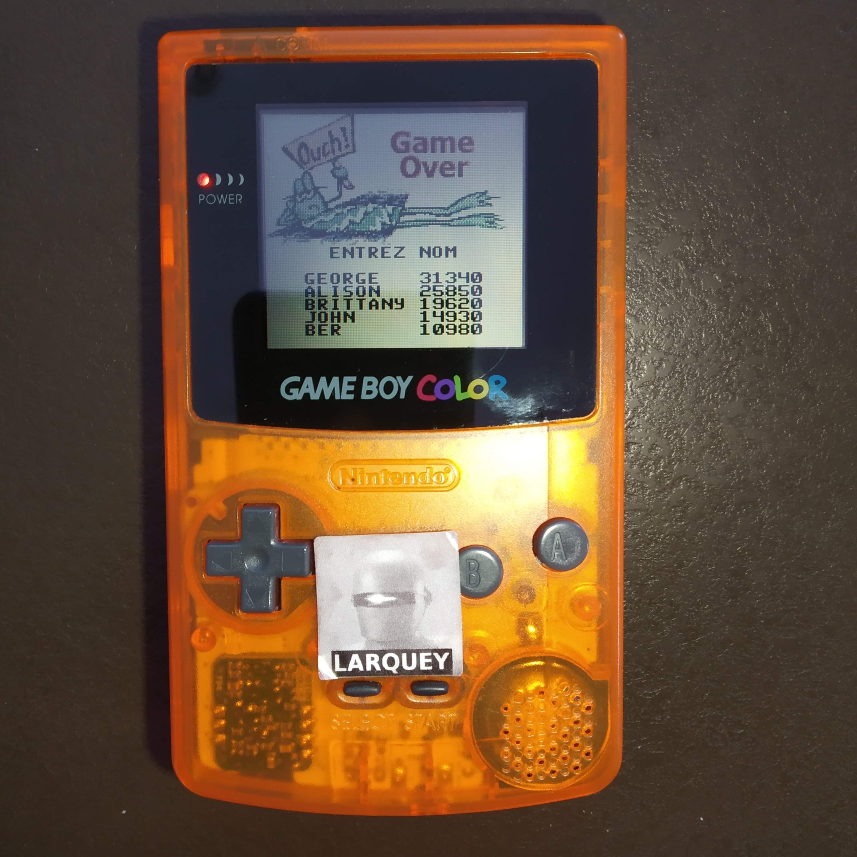 Larquey: Frogger (Game Boy Color) 10,980 points on 2020-07-31 03:02:14