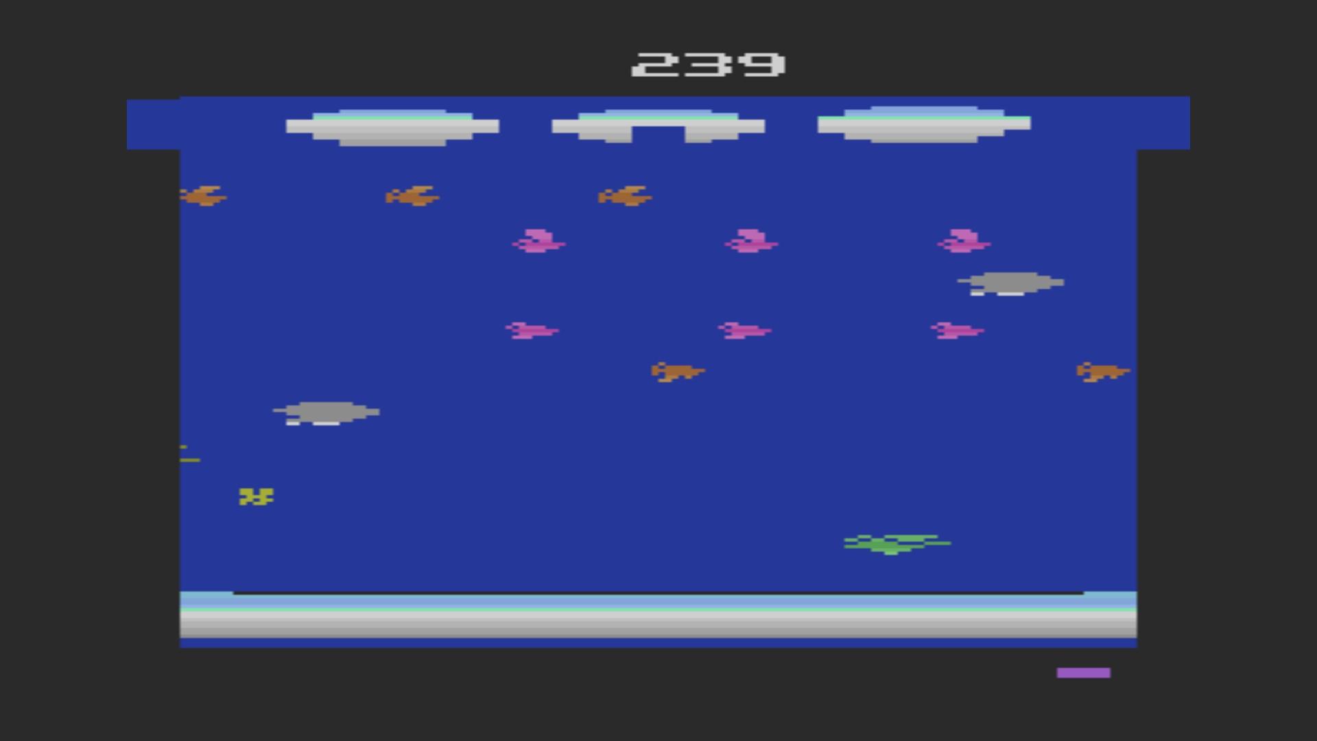 AkinNahtanoj: Frogger II: Threedeep (Atari 2600 Emulated Novice/B Mode) 239 points on 2020-08-26 03:11:09